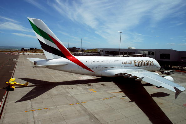Passenger Cabin「Inaugural Emirates A380 Flight Lands At Auckland Airport」:写真・画像(11)[壁紙.com]