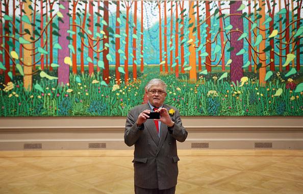 Royal Academy of Arts「Artist David Hockney At A Major Exhibition Of His Work At The Royal Academy」:写真・画像(4)[壁紙.com]