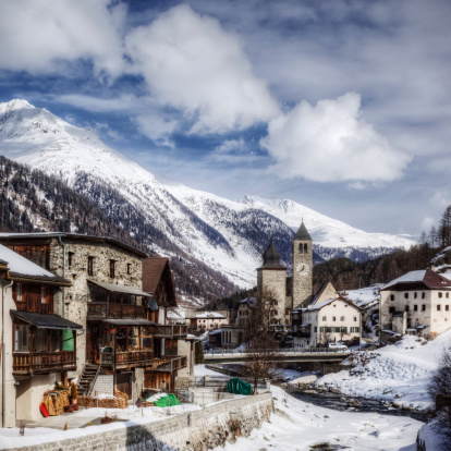 Graubunden Canton「Swiss Village in the Alps」:スマホ壁紙(18)