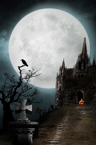 ハロウィン「旧宮殿」:スマホ壁紙(4)