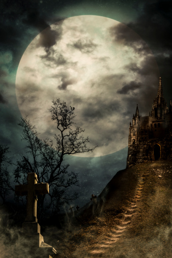 満月「旧宮殿」:スマホ壁紙(19)