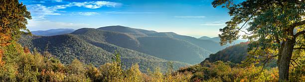 Panoramic picture of Blue Ridge Mountains:スマホ壁紙(壁紙.com)
