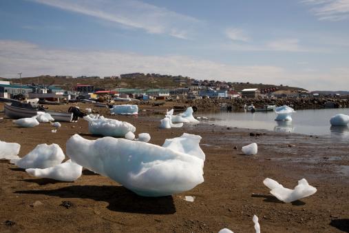 Baffin Island「small iceburgs in harbor」:スマホ壁紙(12)