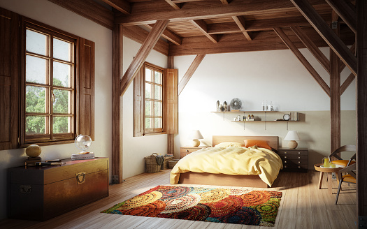 Blanket「Cozy and Rustic Bedroom」:スマホ壁紙(4)