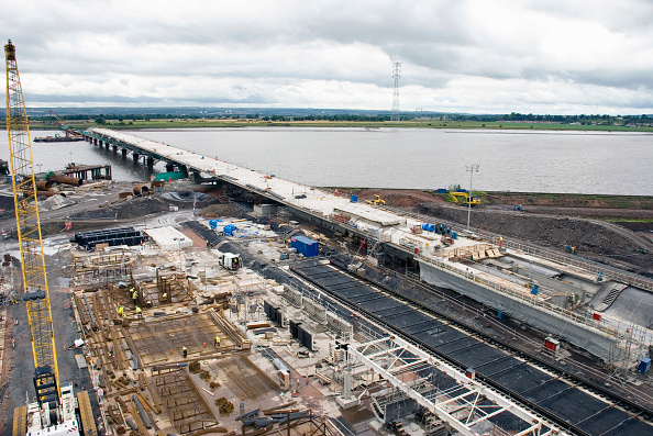 Geology「Elivated view of bridge progress and casting yard」:写真・画像(10)[壁紙.com]