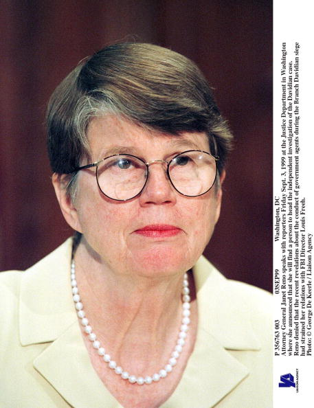 Janet Reno「Attorney General Janet Reno Speaks With Reporters Friday Sept 3」:写真・画像(7)[壁紙.com]