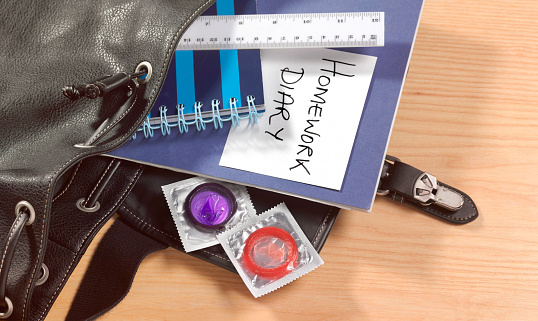 Infectious Disease「Condom in school boys bag」:スマホ壁紙(12)