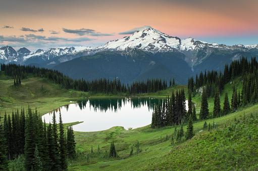 North Cascades National Park「Image Lake Glacier Peak North Cascades」:スマホ壁紙(7)