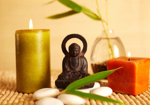 Feng Shui「Spa still life buddha statue and candles」:スマホ壁紙(5)