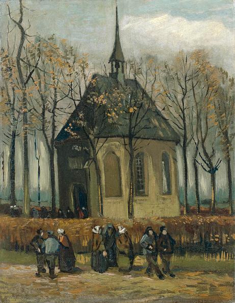 Church「Congregation Leaving The Reformed Church In Nuenen 1884-1885」:写真・画像(18)[壁紙.com]