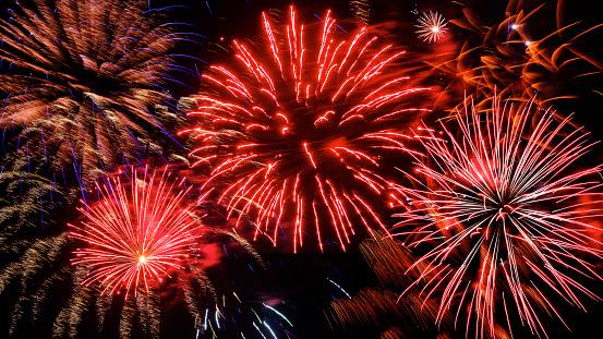 Fourth of July「Firework display on 4th of July at night」:スマホ壁紙(3)