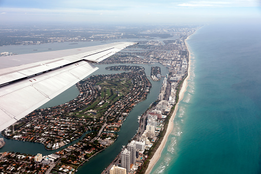 Miami Beach「View of Miami Beach from an airplane」:スマホ壁紙(12)