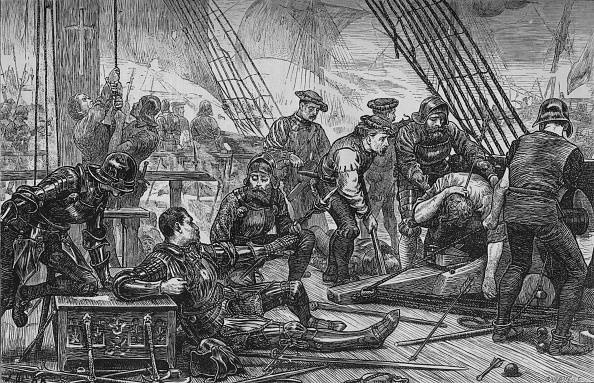 Ship「'Death of Sir Andrew Barton',  August 1511, (c1880)」:写真・画像(4)[壁紙.com]