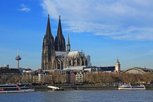 Cathedral「Köln, Dom and Rhine, Germany」:スマホ壁紙(15)