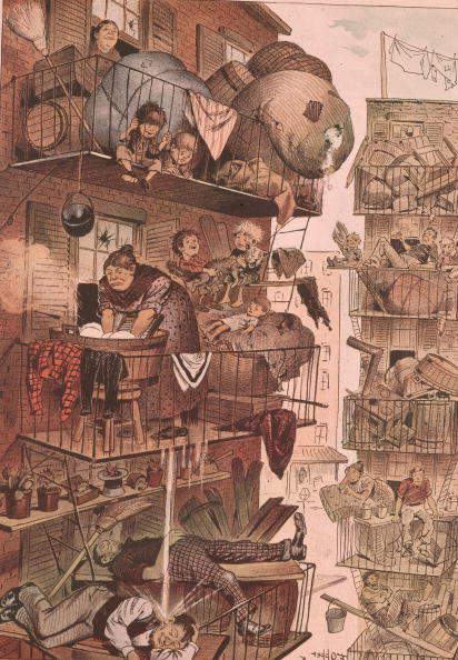Slum「NYC Fire Escape Cartoon」:写真・画像(9)[壁紙.com]