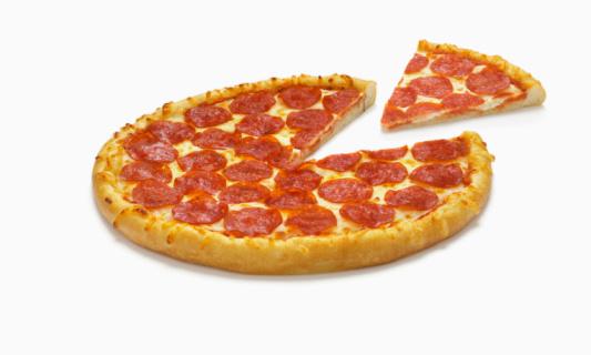 Temptation「Pepperoni Pizza with Slice」:スマホ壁紙(19)