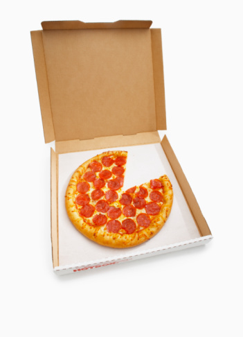 Lost「Pepperoni Pizza in box with missing slice」:スマホ壁紙(7)