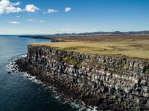 Basalt「Krisuvikurberg Cliffs aerial view Iceland」:スマホ壁紙(18)