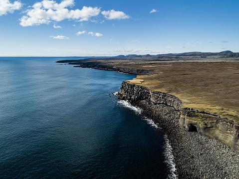 Basalt「Krisuvikurberg Cliffs aerial view Iceland」:スマホ壁紙(19)