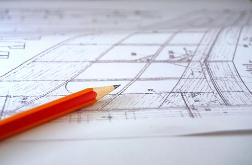 Engineer「Pencil over a plan (paper sheet)」:スマホ壁紙(4)