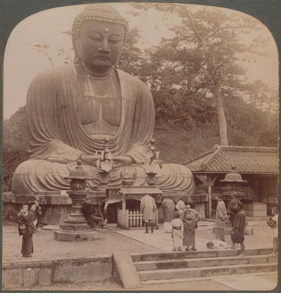 Amitabha「'Majestic Calm Of The Great Bronze Buddha, Reverenced For Six Centuries, Kamakura, Japan, 1904」:写真・画像(1)[壁紙.com]