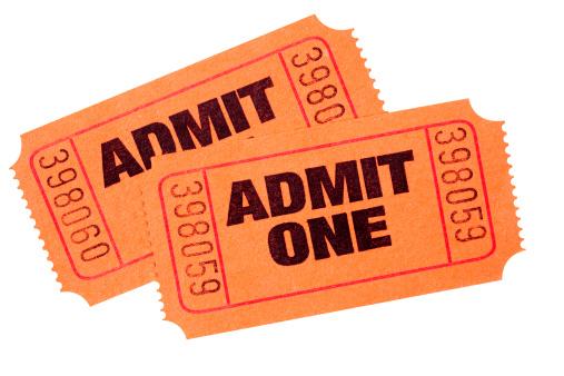 Ticket「Pair of orange Admit One tickets」:スマホ壁紙(1)