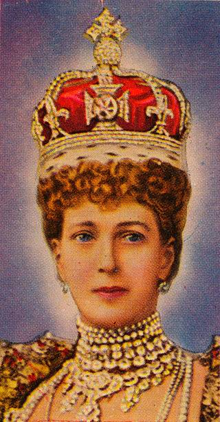 Queen Alexandra, consort of King Edward VII, at her coronation, 1902 (1935). Artist: Unknown.:ニュース(壁紙.com)
