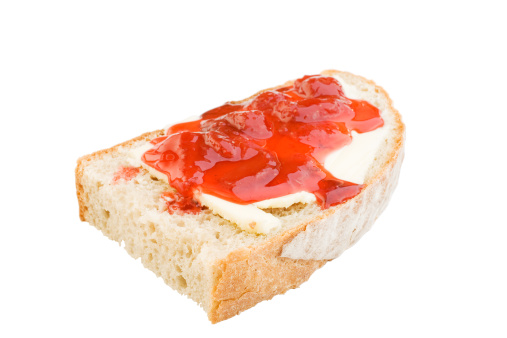 Loaf of Bread「Bread slice with butter and jam」:スマホ壁紙(4)