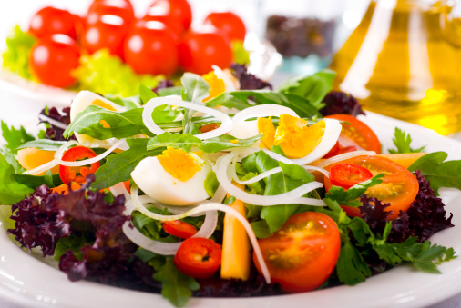 Arugula「Green Salad with Egg and Tomatoes」:スマホ壁紙(11)