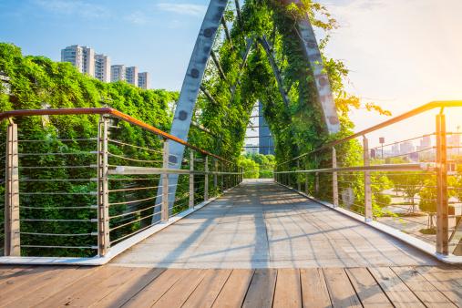 Balustrade「green  walkway」:スマホ壁紙(11)