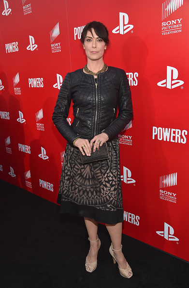 """Leather Jacket「PlayStation & Sony Pictures Television Series Premiere Of """"POWERS"""" - Red Carpet」:写真・画像(3)[壁紙.com]"""