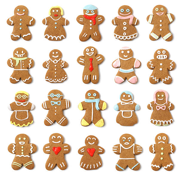 Isolated Gingerbread People Collection Assortment:スマホ壁紙(壁紙.com)