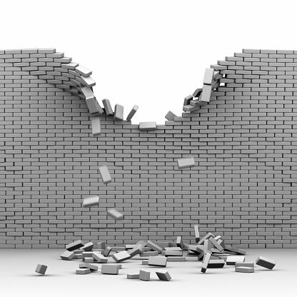 Brick Wall「Destroyed brickwall」:スマホ壁紙(19)