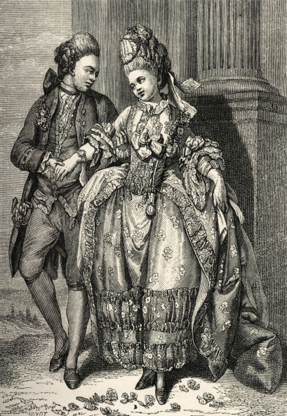 Middle Class「French bourgeois couple of newly-weds wearing 18th century fashion / costume.  Rise of the middle class, aspirations to ariscratic standing.」:写真・画像(16)[壁紙.com]