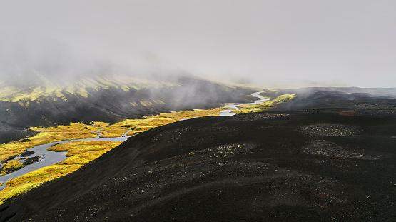 Volcanic Landscape「Blacks Sands and Riverbeds, Iceland」:スマホ壁紙(13)