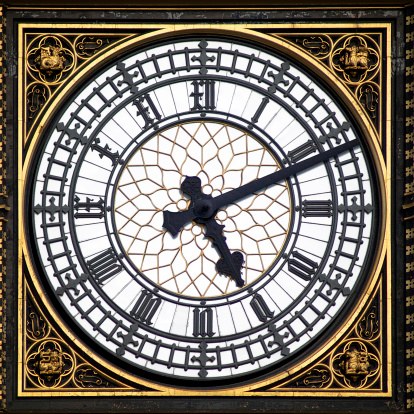 Roman Numeral「Big Ben clock face, London, England, UK」:スマホ壁紙(11)