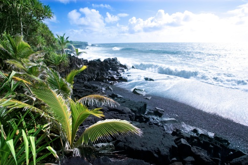 Volcano「Volcanic shoreline in Hawaii」:スマホ壁紙(6)