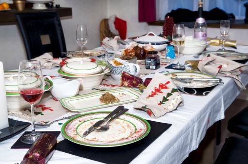 Plate「Abandoned Christmas dinner table after eating」:スマホ壁紙(14)
