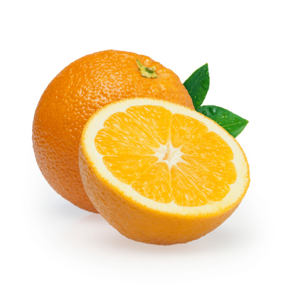 Orange - Fruit「Oranges duo + Leafs」:スマホ壁紙(3)