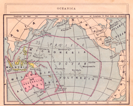Latitude「1867, Old Color Map of Oceanica」:スマホ壁紙(10)
