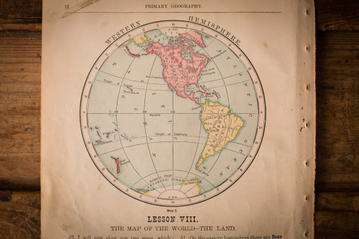 19th Century「Old Color Map of the Western Hemisphere, From 1800's」:スマホ壁紙(7)