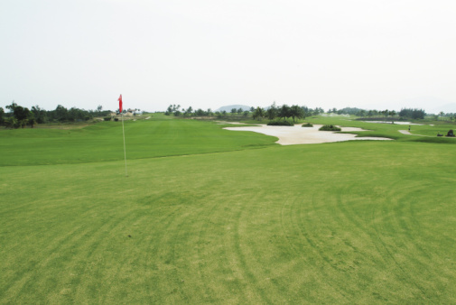Golf Flag「Flag on golf course」:スマホ壁紙(19)