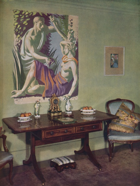 Upholstered Furniture「Drawing-Room In A London Flat Decorated By Frankland Dark」:写真・画像(1)[壁紙.com]