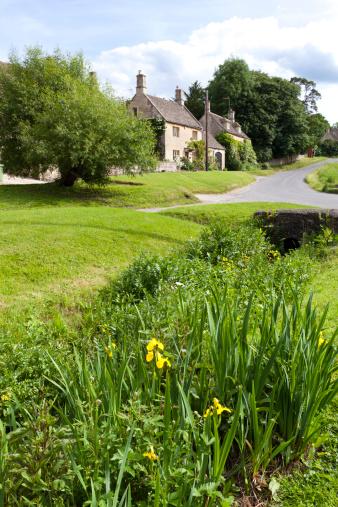 コッツウォルズ「Stream at Little Barrington, Gloucestershire」:スマホ壁紙(16)