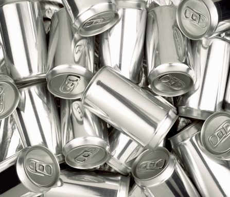 Steel「Pile of Silver aluminum soda cans without labels」:スマホ壁紙(7)