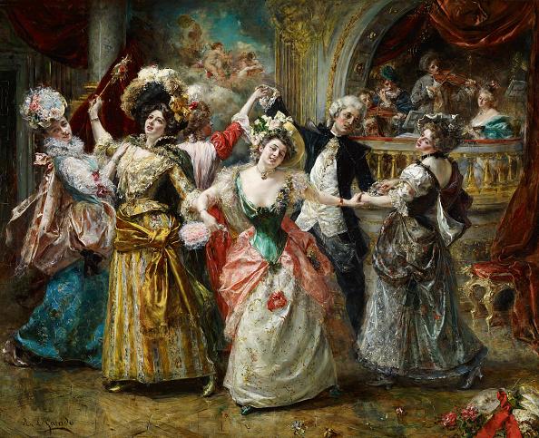 Oil Painting「The Beau At The Soirée Artist: Garrido」:写真・画像(14)[壁紙.com]