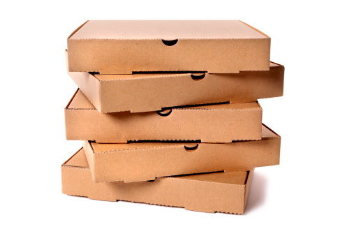 Pizza Box「Stack of plain brown pizza boxes」:スマホ壁紙(18)