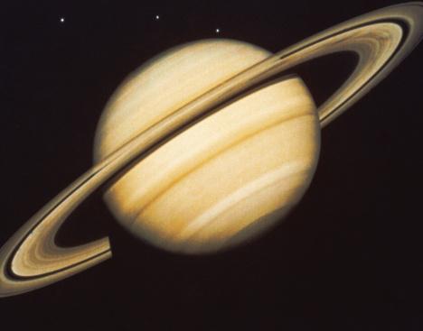 Solar System「Saturn and Three Moons」:スマホ壁紙(16)