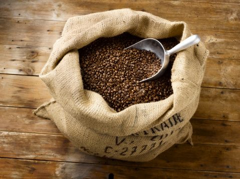 Roasted Coffee Bean「Roasted Coffee Beans in Burlap Bag」:スマホ壁紙(16)