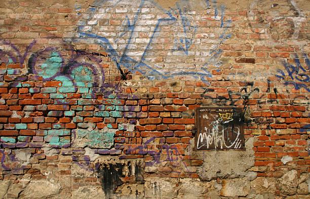 Scribbled Brick Wall:スマホ壁紙(壁紙.com)